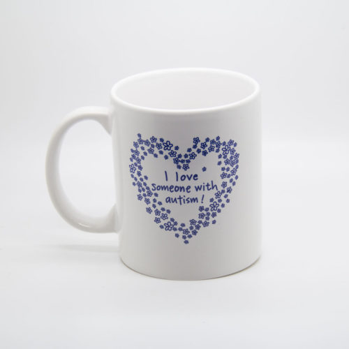 coffee mug i love someone with autism
