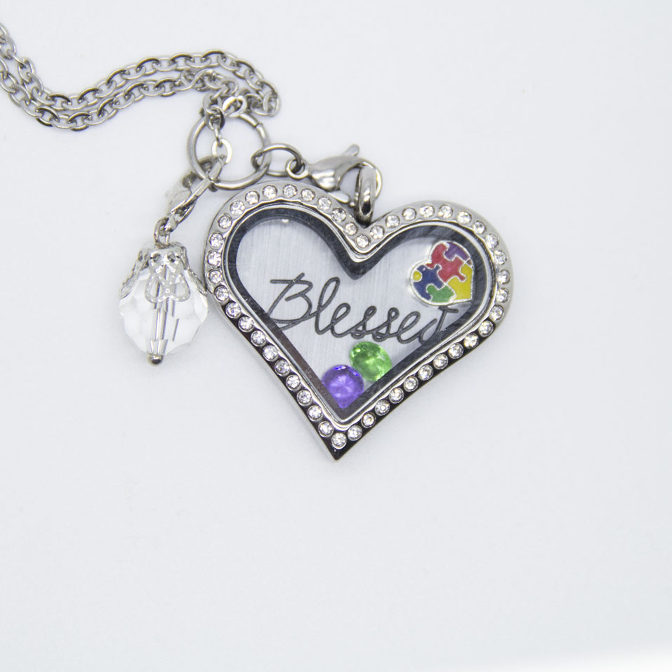 Love Autism Health Blessed Necklace